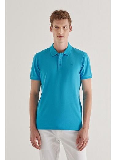 Avva Erkek  Polo Tişört A11B1146 Mavi